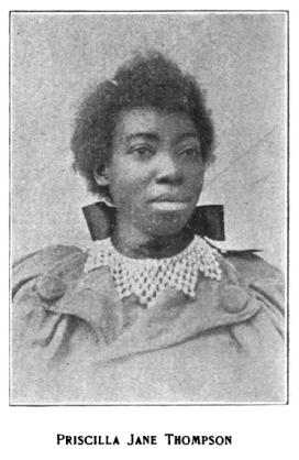 Clara Jane Thompson's portrait in Ethiope Lays (1900).