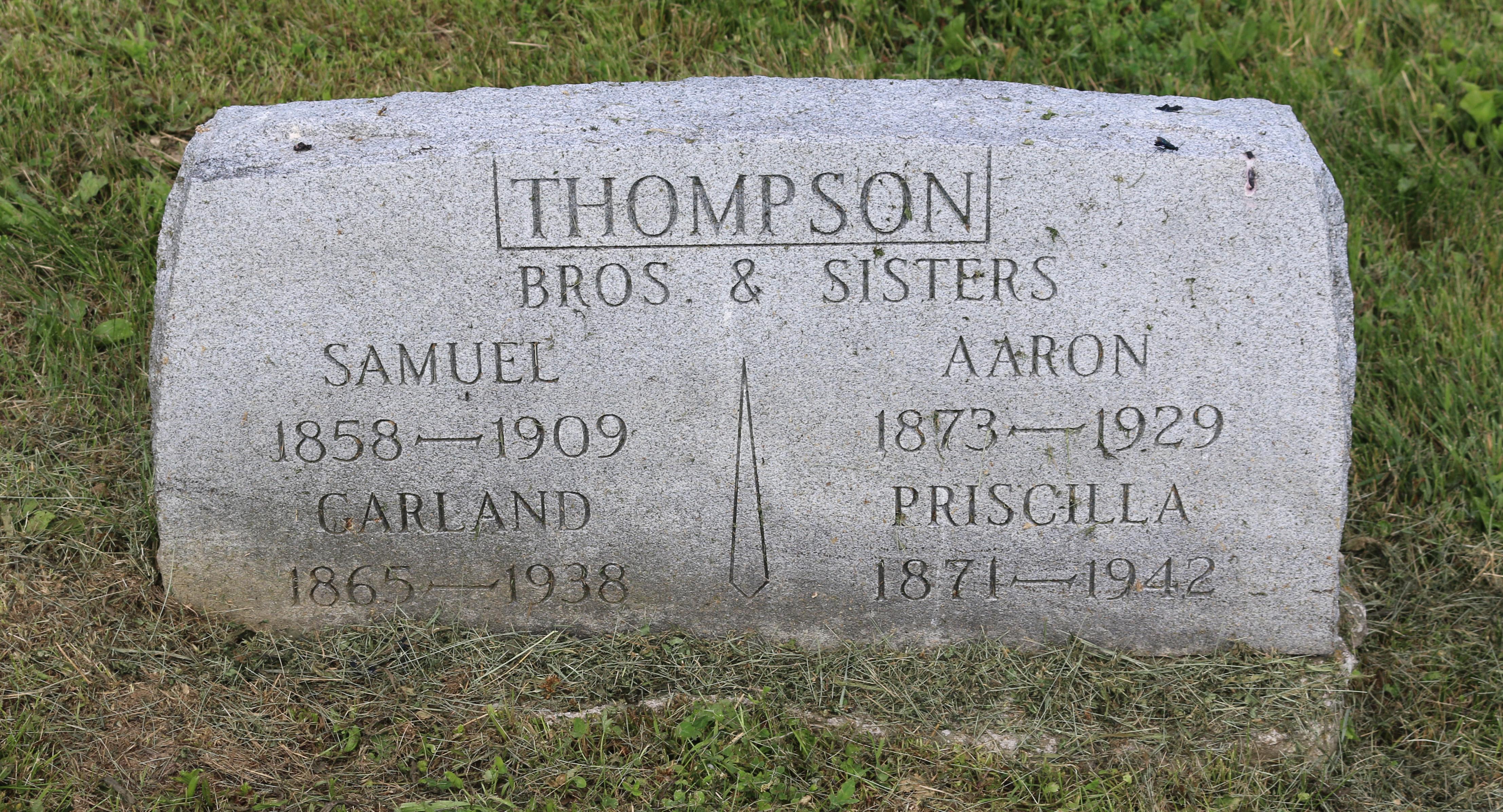 Priscilla Ann Thompson's gravestone