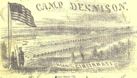 Camp Dennison, drawn by James Gate. Cincinnati, Ohio. 1861.